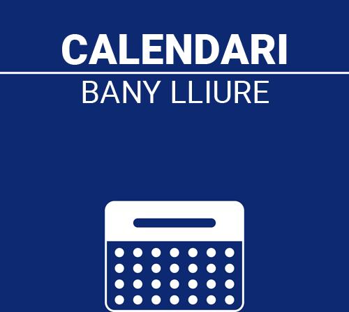 Calendari Bany Lliure